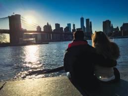 Puesta de sol en Manhattan desde Dumbo